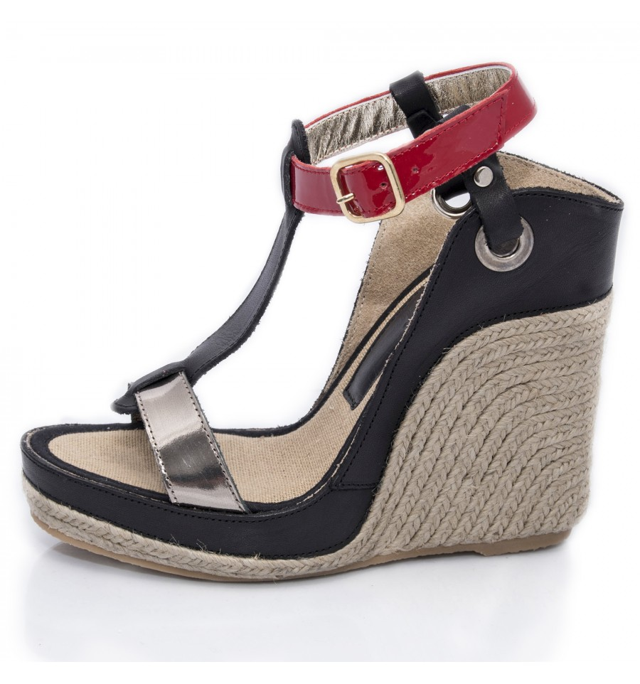 Espadrille Wedge Sandals Woman - Model Nor Red