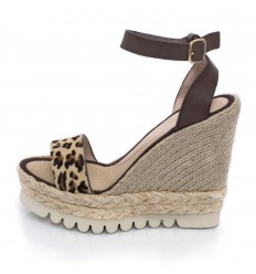 Espadrille Wedge Sandals, Woman- Model Savane