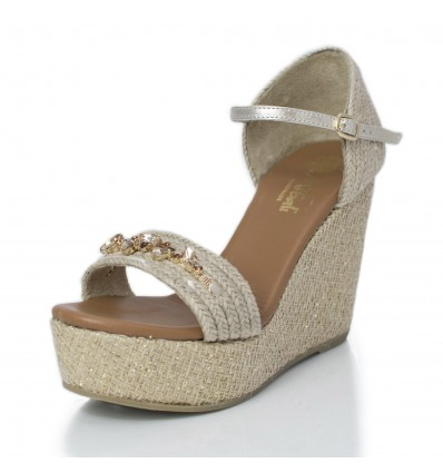 Espadrille wedge sandals Woman - Model Paris Star