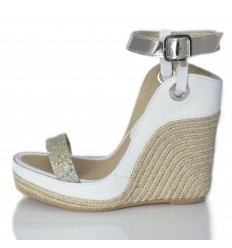 Espadrille Wedge Sandals Woman - Model Nor White