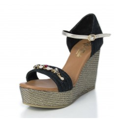 Espadrille Wedge Sandals Woman - Model Paris Glam