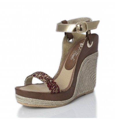 Espadrille Wedge Sandals Woman - Model Nor Diamond