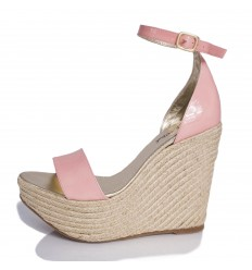 Espadrille Wedge Sandals Woman - Model Bahamas Rose