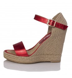 Sandalo Espadrillas con zeppa , Donna - Modello Oceanside Red