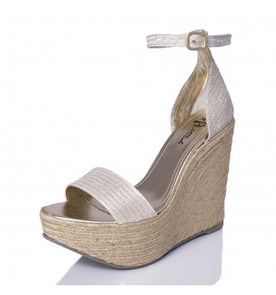 Espadrille Wedge Sandals Woman - Model Bahamas White
