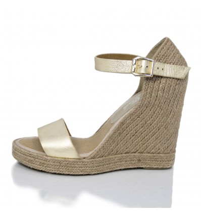 Espadrille Wedge Sandals Woman - Model Oceanside Platine