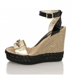 Espadrille Wedge Sandals Woman - Model Savane Glam