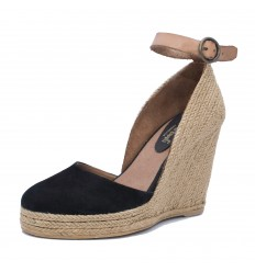 Espadrille Wedge Sandals, Woman- Model Altea Black