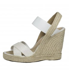 Espadrille Wedge Sandals, Woman- Model White Star